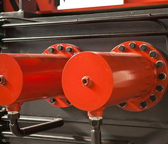 料斗式金属压块打包机双液压缸