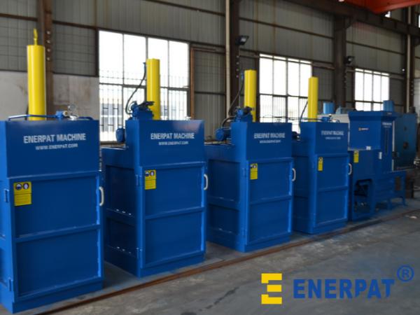 西安某空调压缩机制造厂家定制油桶压扁机案例